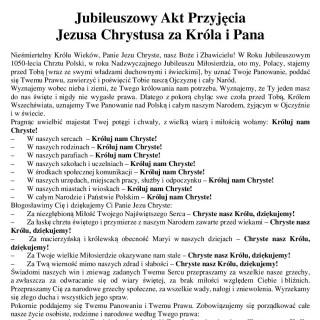 Jubileuszowy Akt