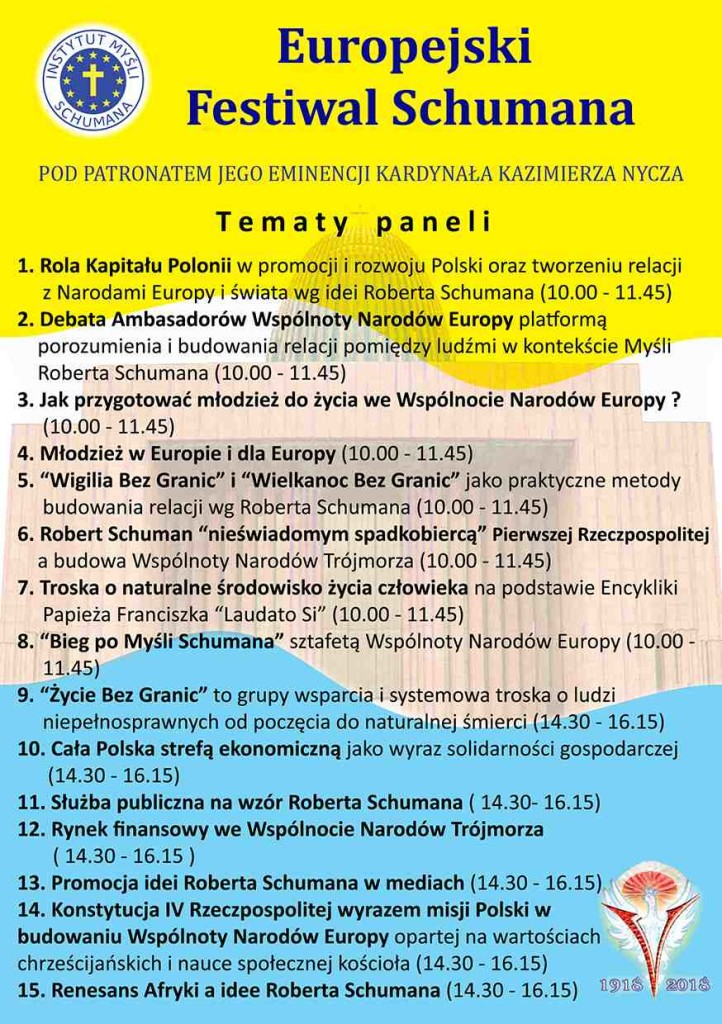 II Europejski Festiwal Schumana_Ulotka Rewers 2