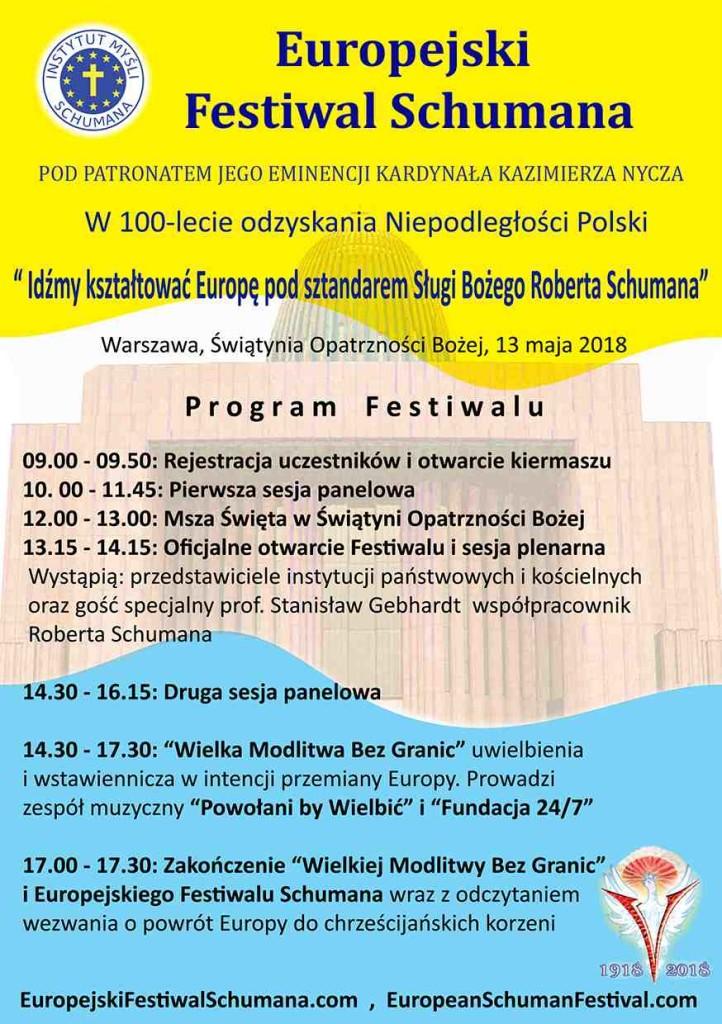 II Europejski festiwal Scumana_Ulotka Awers 1